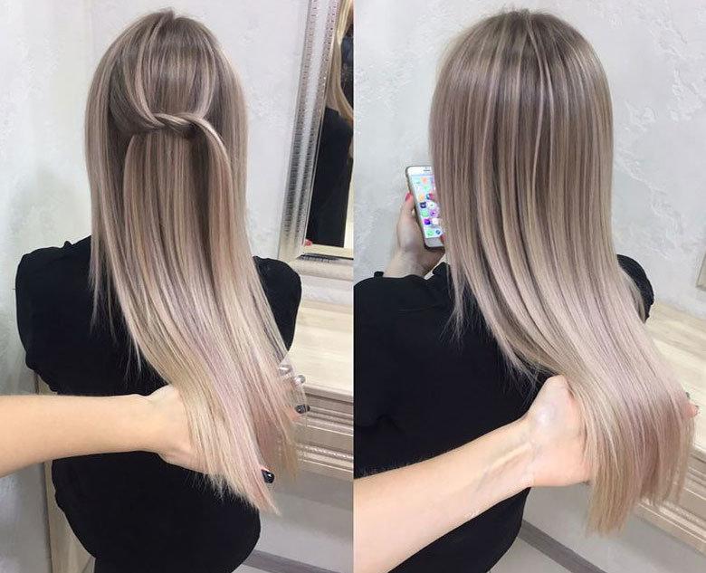цвет волос жемчужный длинные волосы