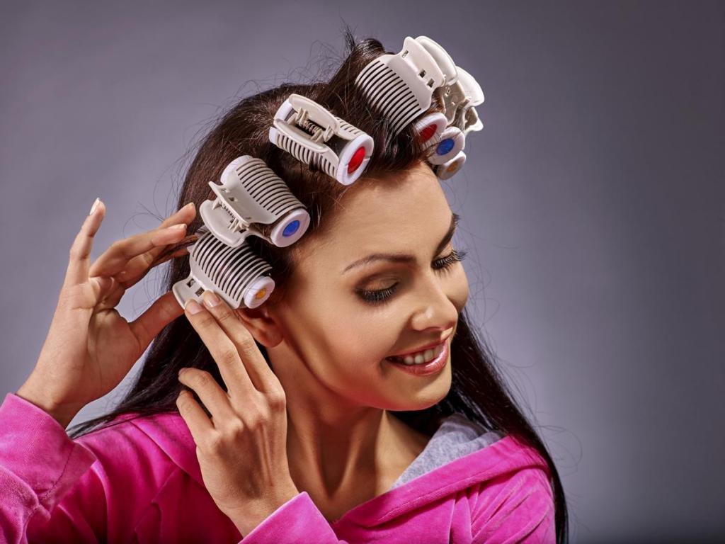 термобигуди на короткие волосы