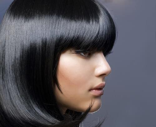 Черный цвет волос модные оттенки