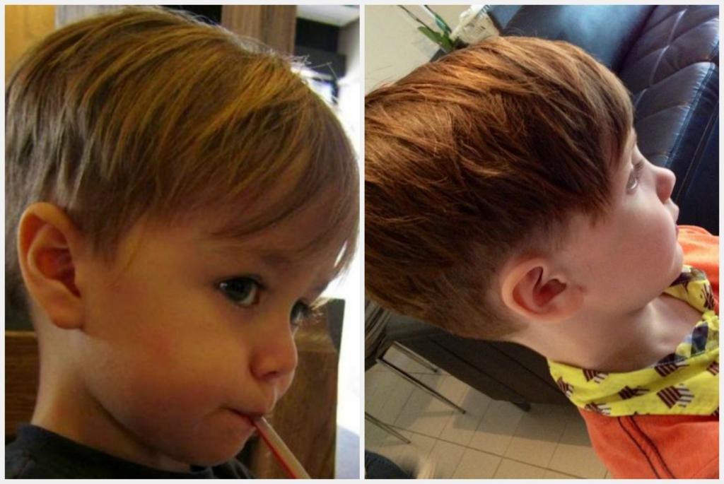 стильная стрижка для мальчика 3 лет