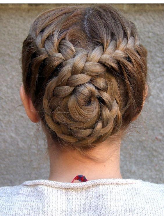 Прическа ракушка плетение