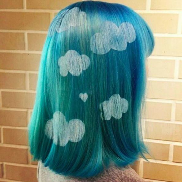 Трафарет на волосах