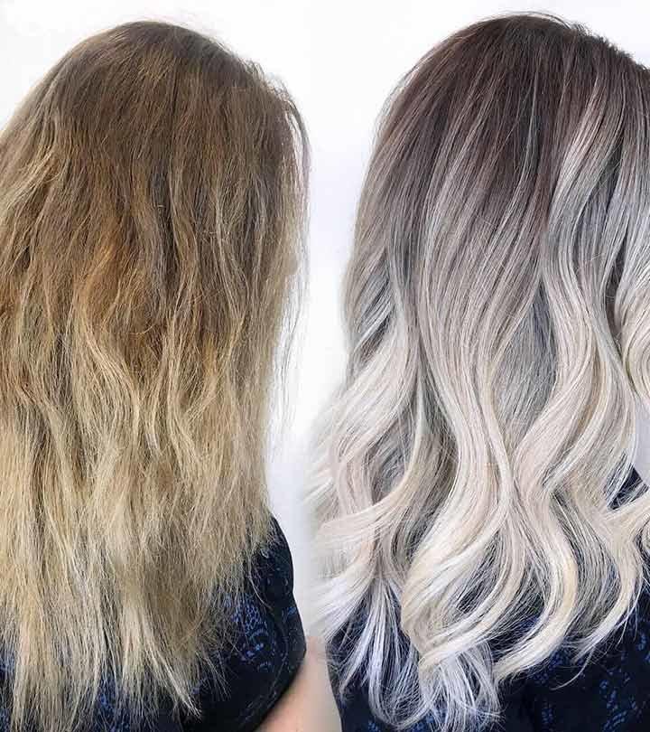 Тонирование светлых волос