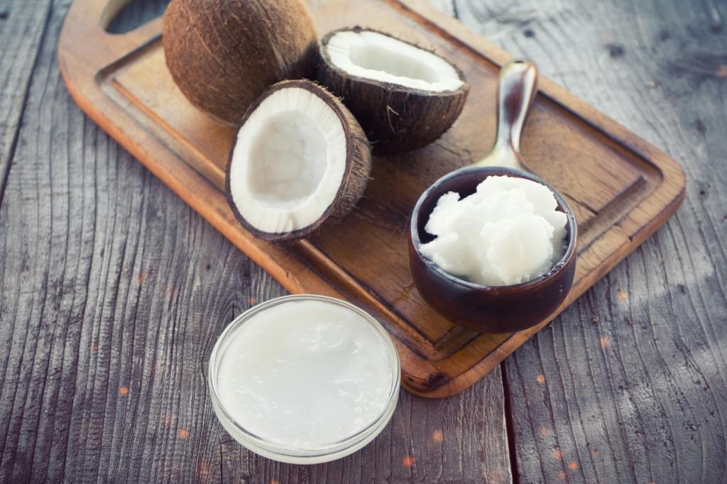 Маска для секущихся волос с кокосовым маслом