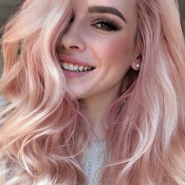 Rose Gold на волосах