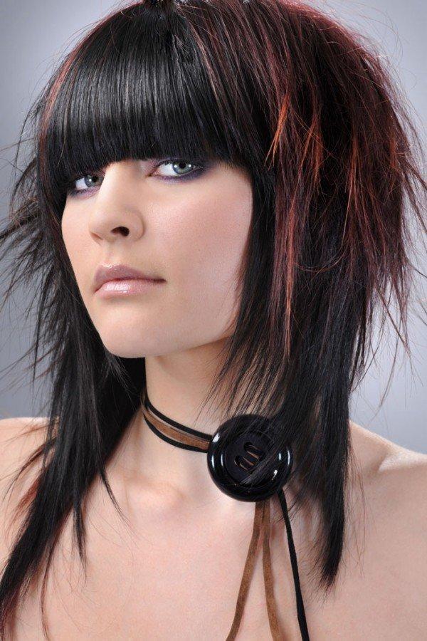Треш стрижка на длинные волосы