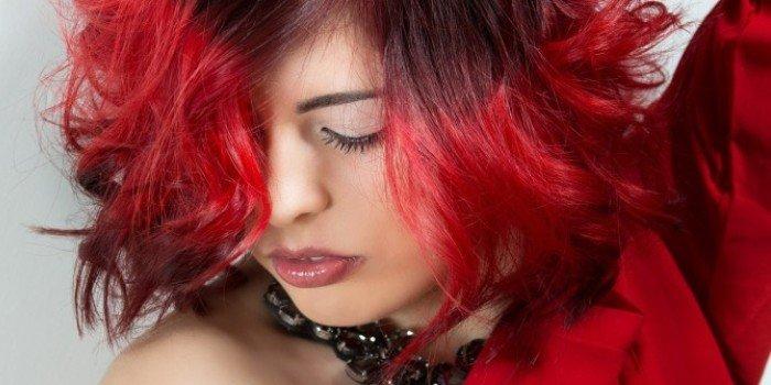 окрашивание кончиков волос дома