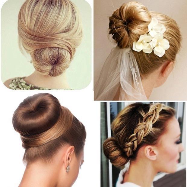 Укладки с популярными валиками для волос
