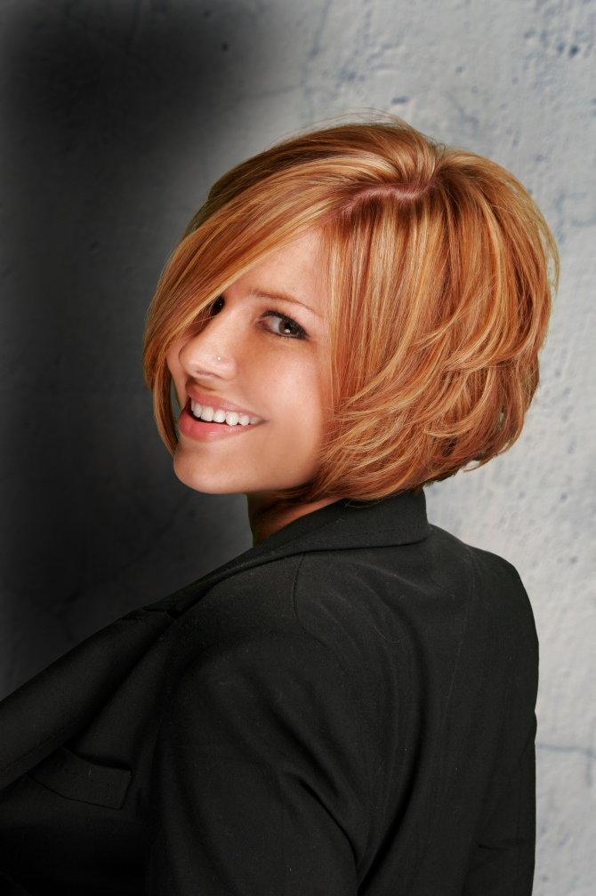 Каскад на короткие волосы вариант