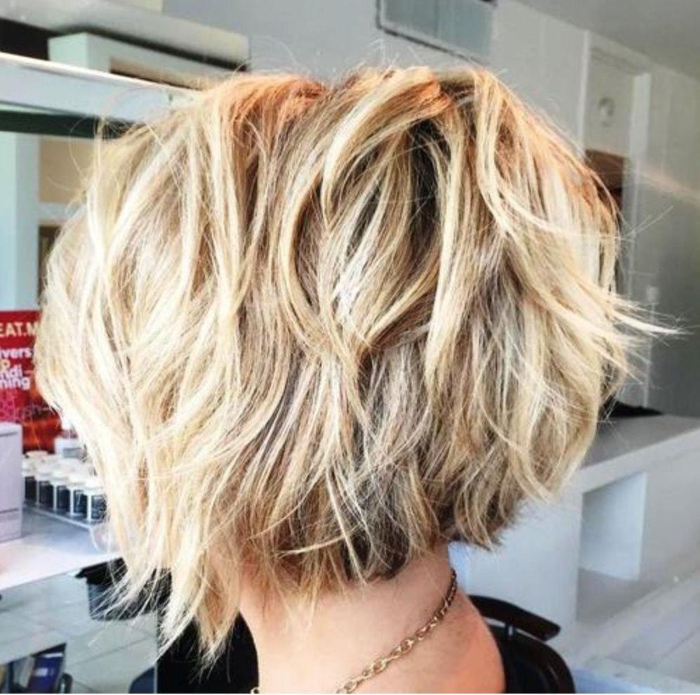 Каскад на короткие волосы сзади