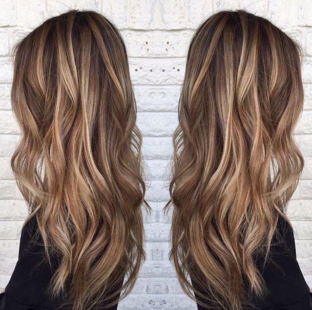 платиново-карамельный цвет волос