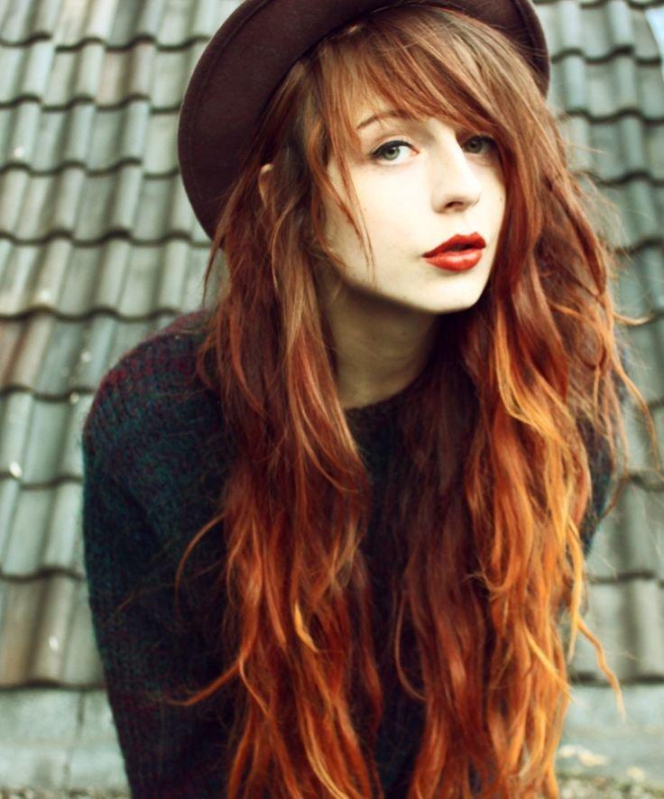 длинные волосы гранж