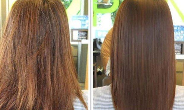волосы до и после применения ампул Dikson