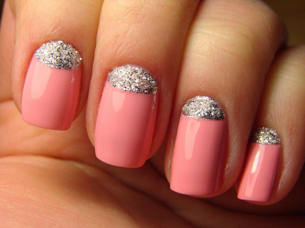 Розовый и серебряный