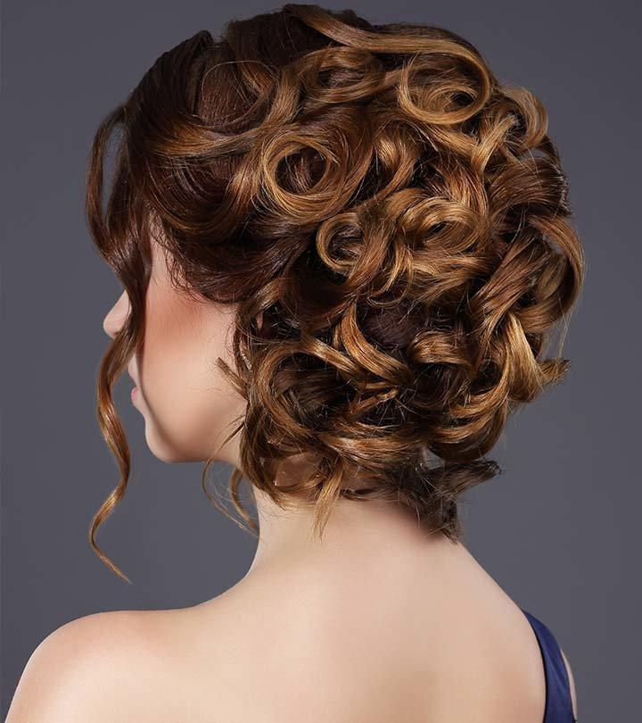 Пучок из вьющихся волос