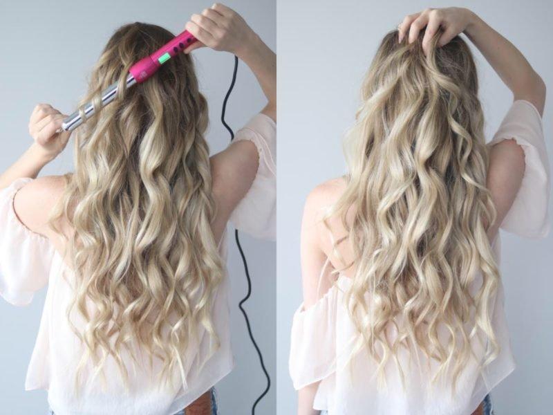 Как накрутить длинные волосы на плойку
