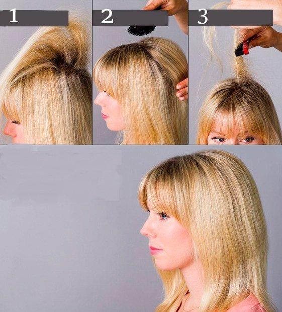 Как начесать волосы