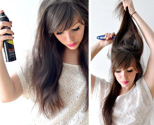 Как сделать объемную прическу на длинных волосах