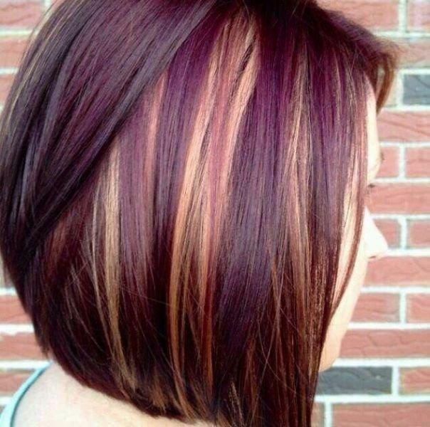 колорирование на темные короткие волосы