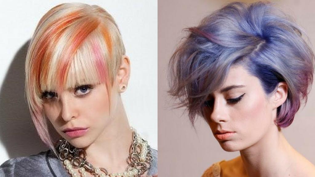 колорирование на светлые волосы короткие