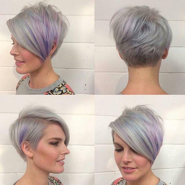модное колорирование на короткие волосы