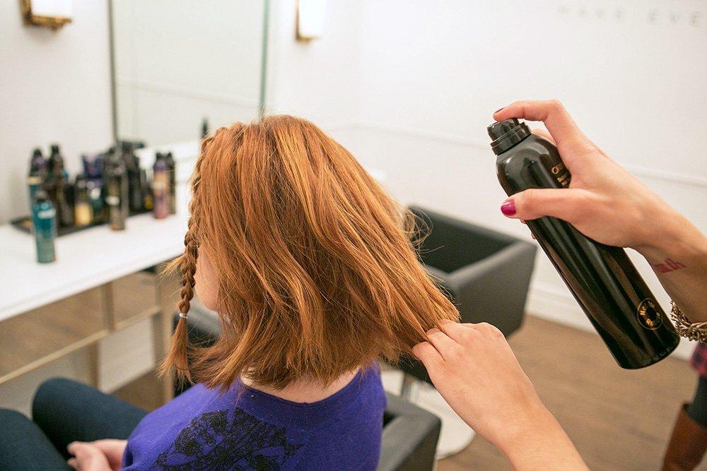 средства для выпрямления волос утюжком