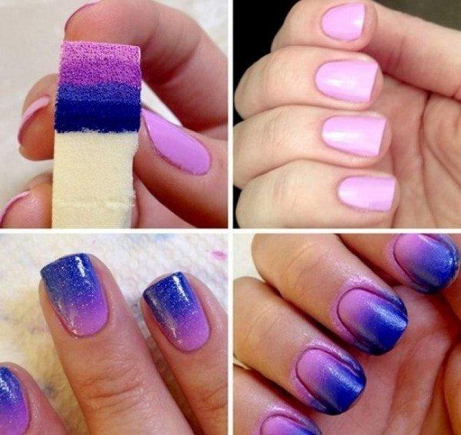 дизайн ногтей с обычными лаками