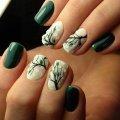 Маникюр темно-зеленый. Идеи дизайна ногтей