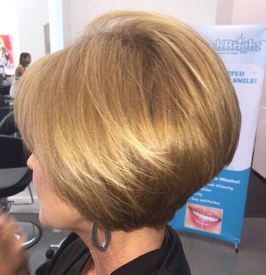 Стрижка средние волосы среднего возраста