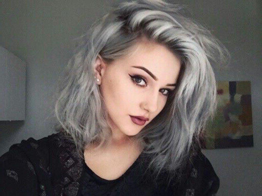 Гранж для волос по плечи