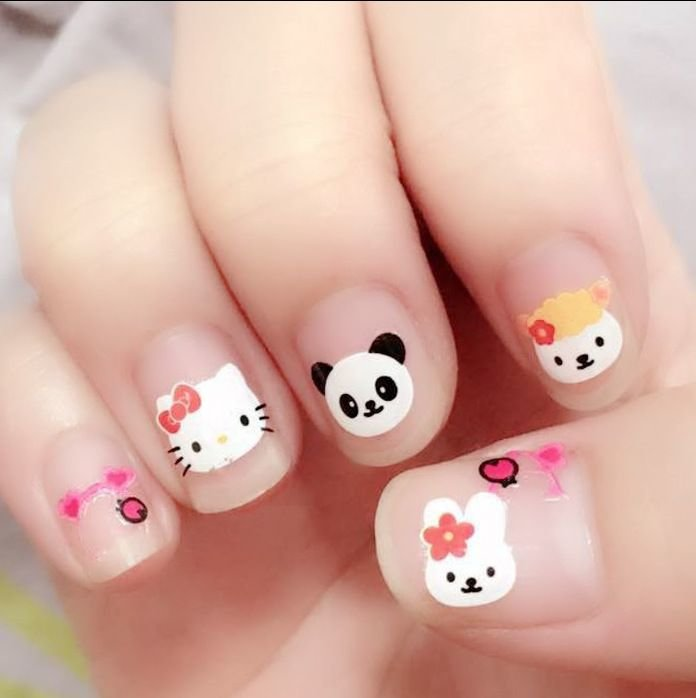 Милые рисунки на ногтях