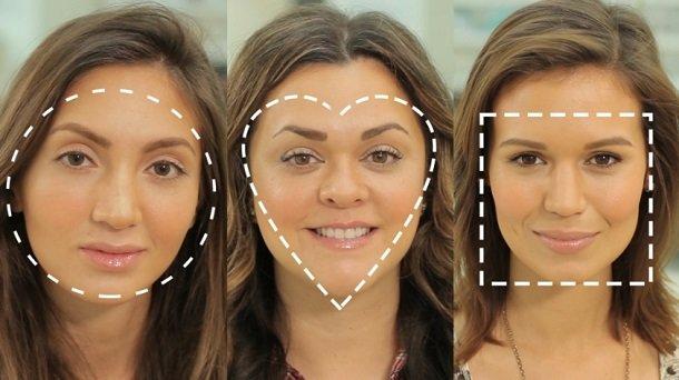 Разные овалы лица
