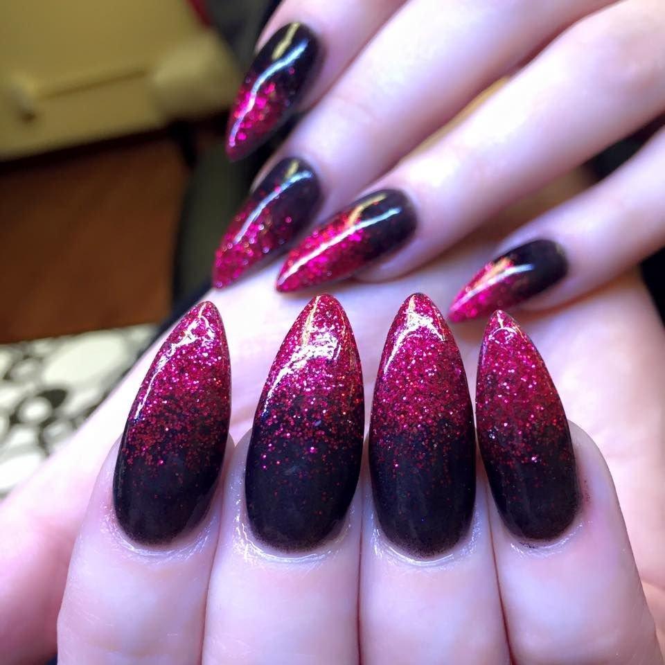 Черно-красный омбре