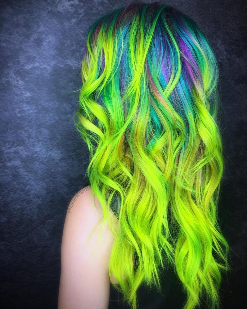 цвет, практичность картинки с крашеными волосами собрали видео необычного