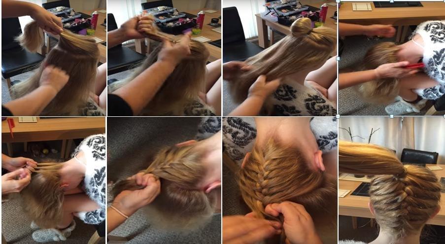 Плетение косы себе