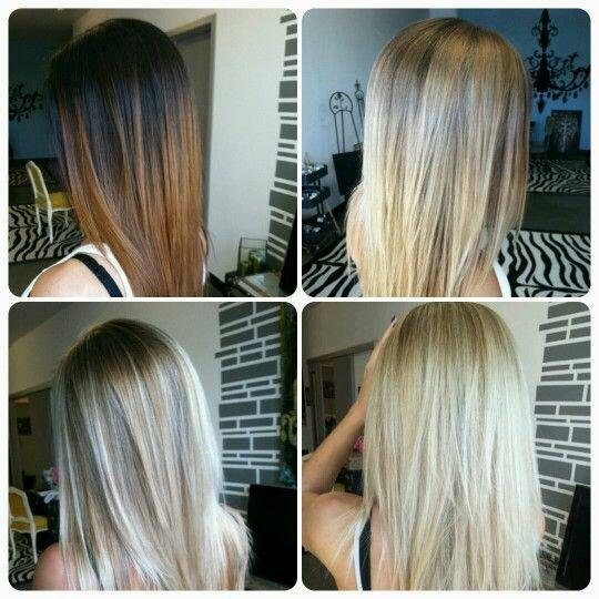 осветление волос с помощью колорирования