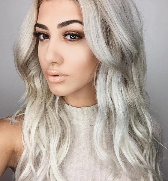 платиновый волос фото