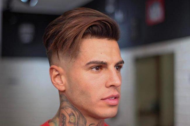 Ассиметричная мужская модельная стрижка