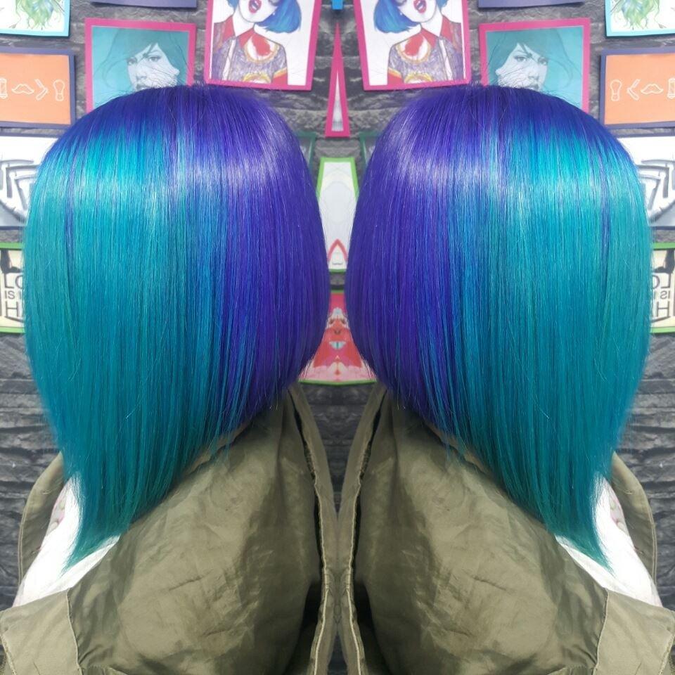 Креативный цвет волос