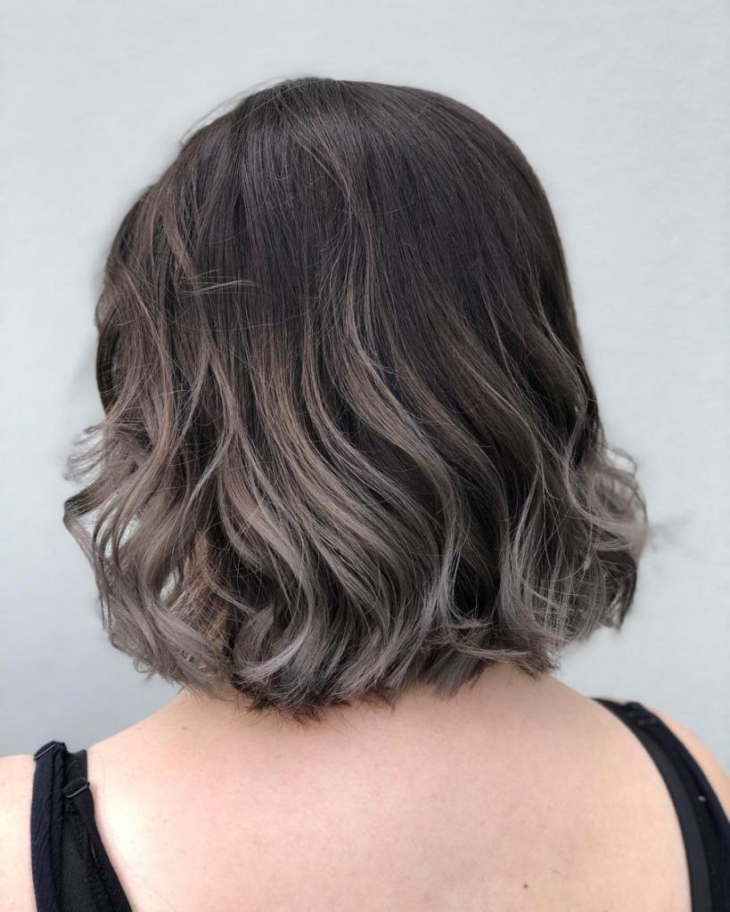 омбре пепельное на короткие волосы