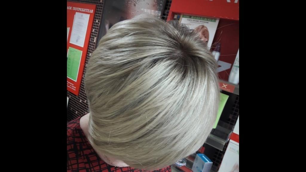 пепельно русое омбре на короткие волосы