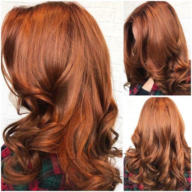 классический бронзовый цвет волос