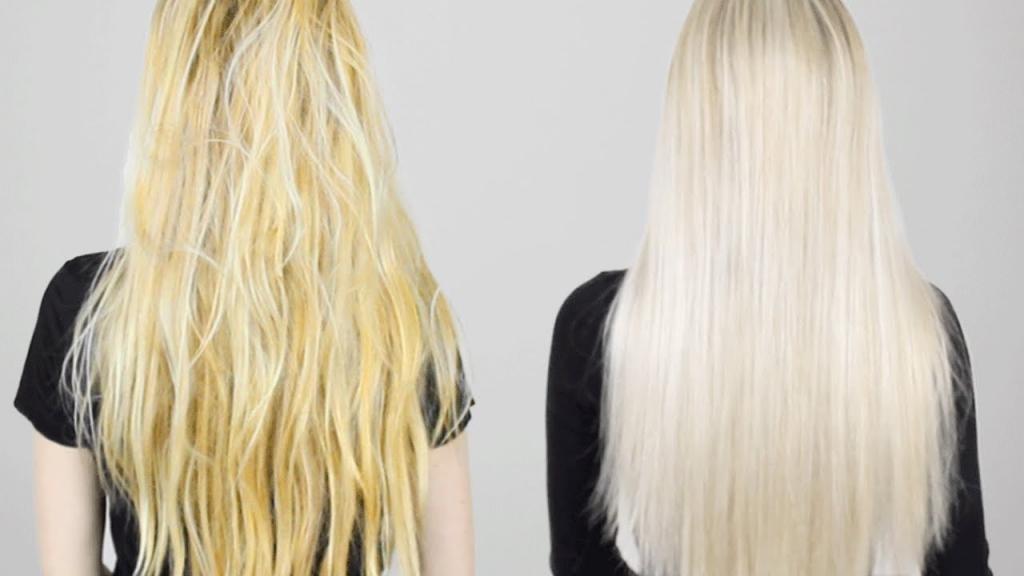 устранение желтизны с волос