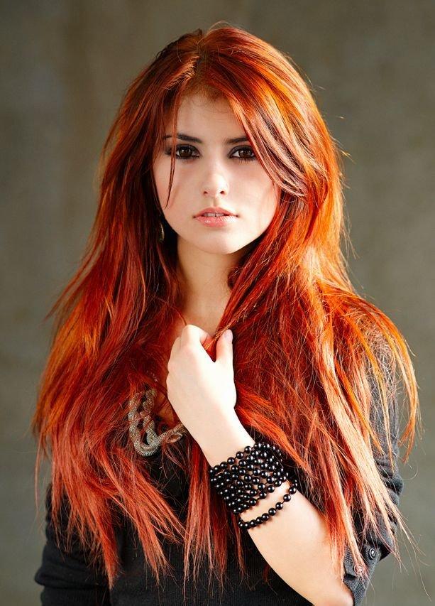 оттенки рыжего цвета волос фото с названием