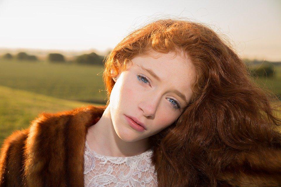 рыжие оттенки волос фото