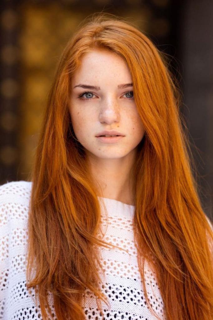 все оттенки волос рыжего цвета
