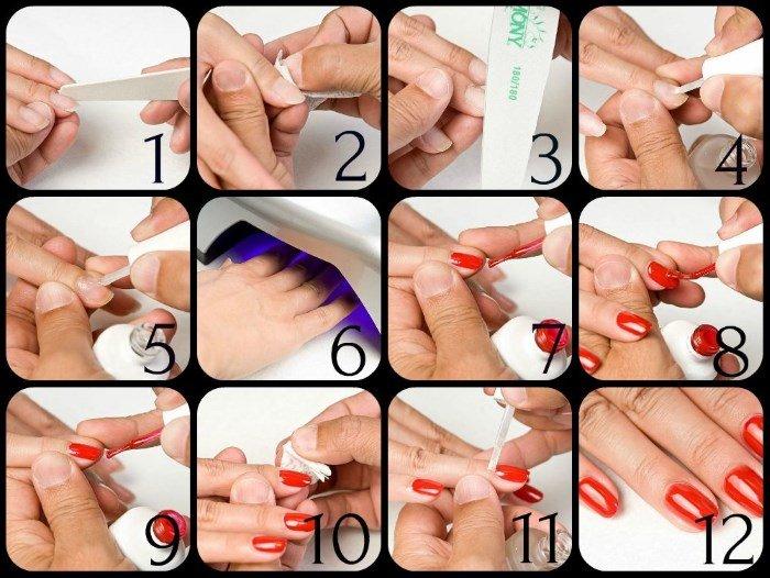 набор для покрытия ногтей гель-лаком