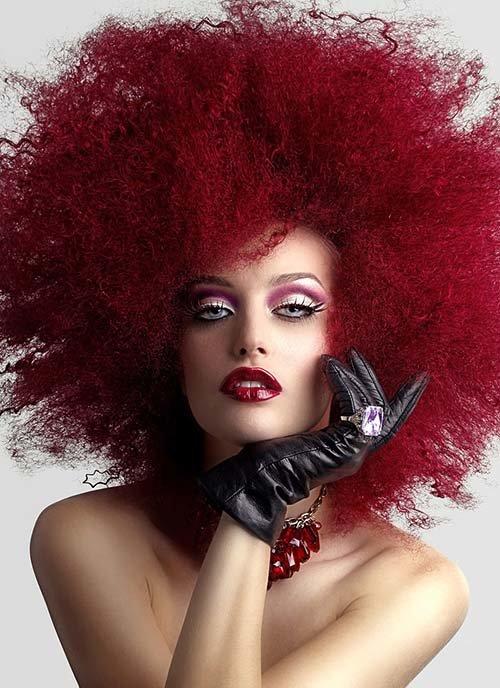 красный гранат цвет волос
