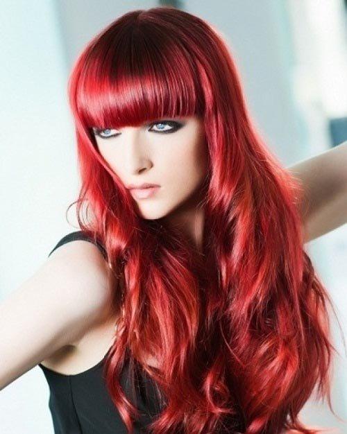 светло-гранатовый цвет волос