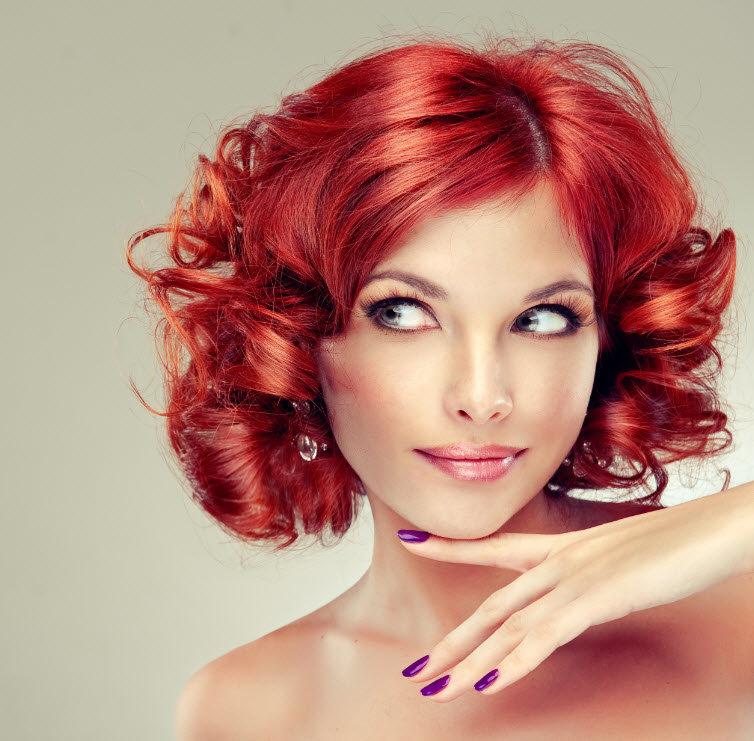 ярко красный цвет волос